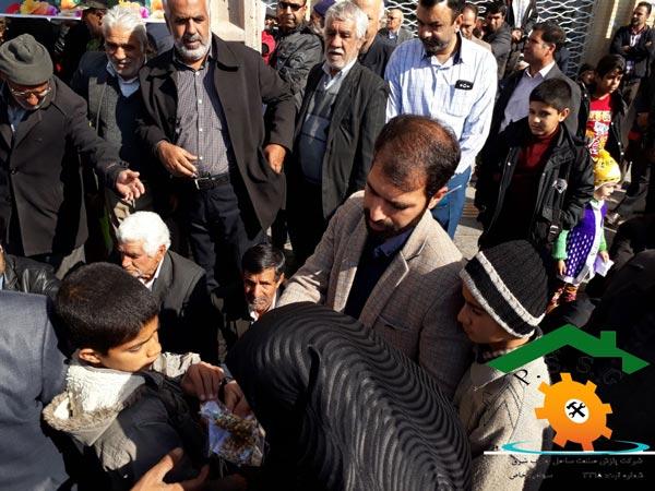 حضور پرسنل شرکت پازش صنعت در راهپیمایی 22 بهمن ماه 1396